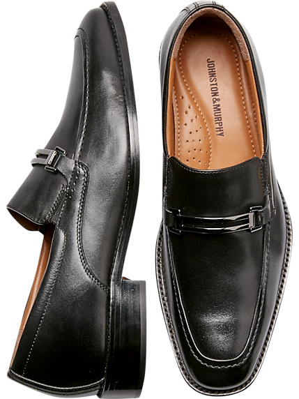Johnston & Murphy Porter Black Moc Toe Loafers