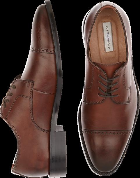 993f5ec1e66 Brown Cap Toe Lace Ups - Men s Dress Shoes - Joseph Abboud Calvin ...