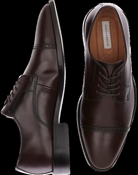 a0cd4b56fa14 Joseph Abboud Calvin Burgundy Cap Toe Lace Up Shoes - Men's Shoes | Men's  Wearhouse