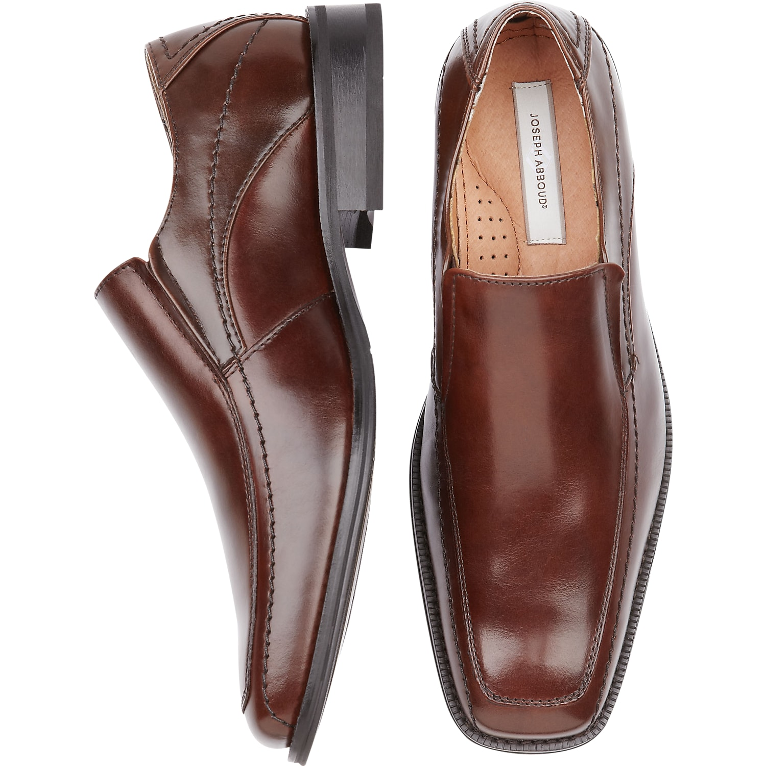 124a34e26df234 Mens Shoes - Joseph Abboud Brown Slip-On Shoes - Men s Wearhouse