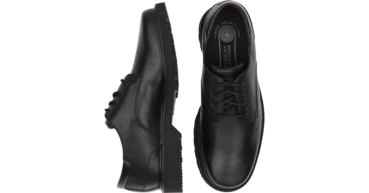 Rockport Northfield Black Waterproof Lace Up Casual Shoes - Men's | Men's  Wearhouse