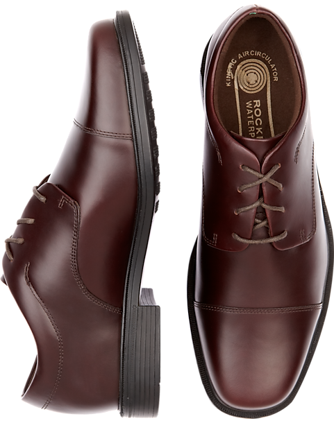Rockport Ellingwood Burgundy Waterproof Lace Up Casual Shoes