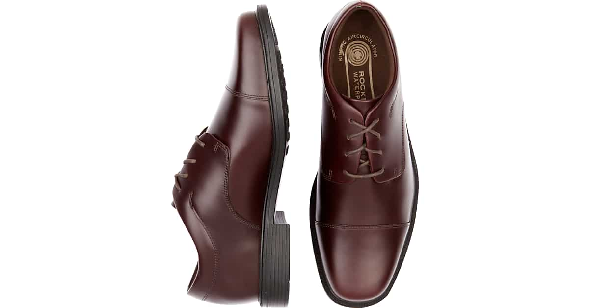 Rockport Ellingwood Burgundy Waterproof Lace Up Casual Shoes Mens Shoes Mens Wearhouse