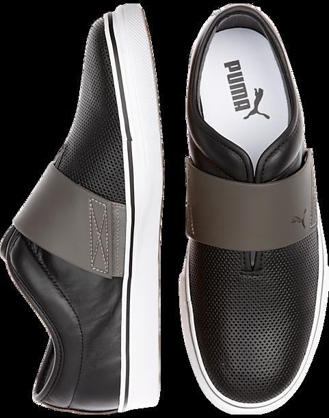 031783e1f26 Puma El Rey Black and Gray Casual Slip-Ons - Men s Shoes