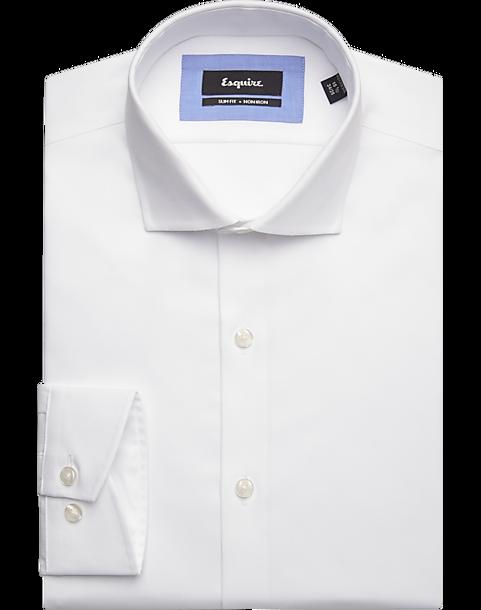 Esquire White Slim Fit Non Iron Dress Shirt Men S Shirts Men S