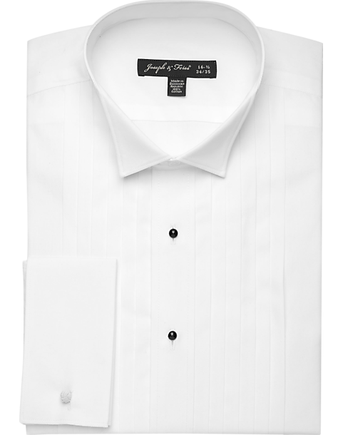 Joseph & Feiss Formal White Tuxedo Classic Fit Shirt (White TUX)