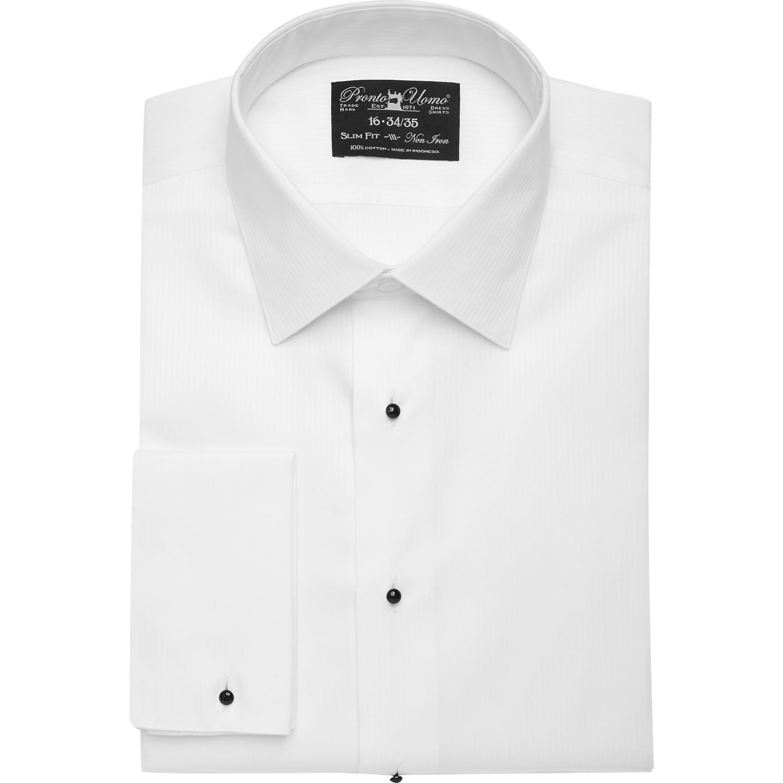 0b2adc3d446 Mens Home - Pronto Uomo White Slim Fit Tuxedo Shirt - Men s Wearhouse