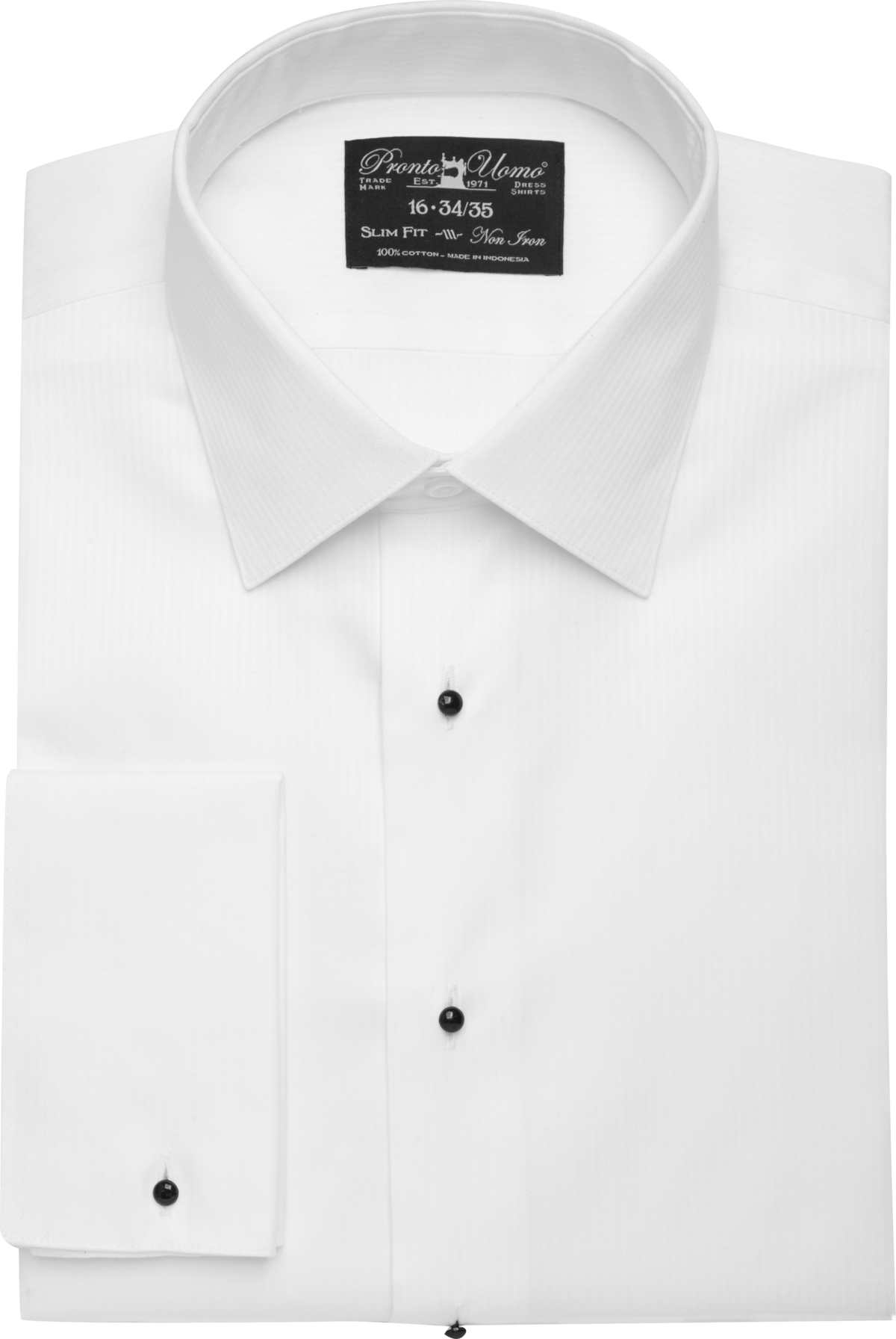 Pronto Uomo White Slim Fit Tuxedo Shirt - Men's Formal Shirts ...