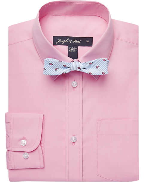 Joseph & Feiss Boys Pink Shirt & Bow Tie Set - Men's Boys' Dress ...