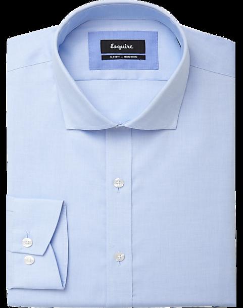 9bb57a451de2 Esquire Blue Slim Fit Non-Iron Dress Shirt - Men's Shirts | Men's ...