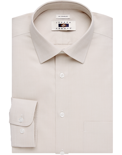 62d853bb50c9 Joseph Abboud Ecru Egyptian Cotton Dress Shirt - Men's Shirts ...