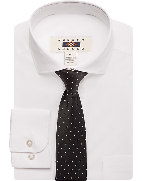 aac8254236df Joseph Abboud Boys White Dress Shirt & Tie Set - Men's Clothing ...