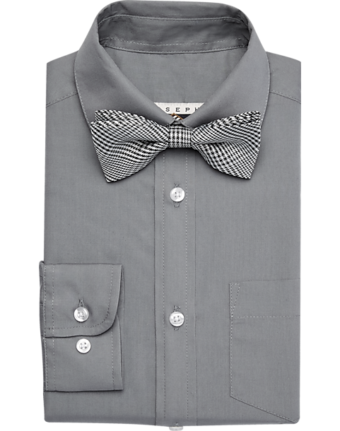 Joseph abboud boys gray dress shirt tie set men 39 s boys for Joseph abboud dress shirt