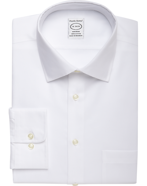 da0bdae467e Pronto Uomo White Queen's Oxford Non-Iron Dress Shirt