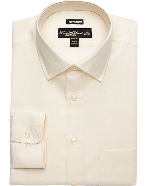 faaf0982319c62 Pronto Uomo Ecru Queen s Oxford Non-Iron Dress Shirt - Men s Shirts ...