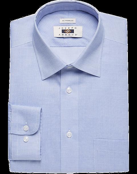 Joseph abboud blue tic modern fit dress shirt men 39 s for Joseph abboud dress shirt