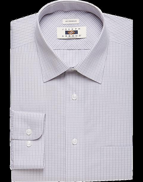 Joseph abboud gray check dress shirt men 39 s men 39 s wearhouse for Joseph abboud dress shirt
