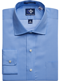 3-Pack MagnaClick Blue Classic Fit Dress Shirt