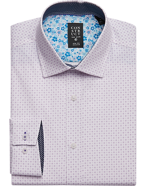 5b767f36c0ad3 Construct Pink Star Slim Fit Dress Shirt - Men s Shirts