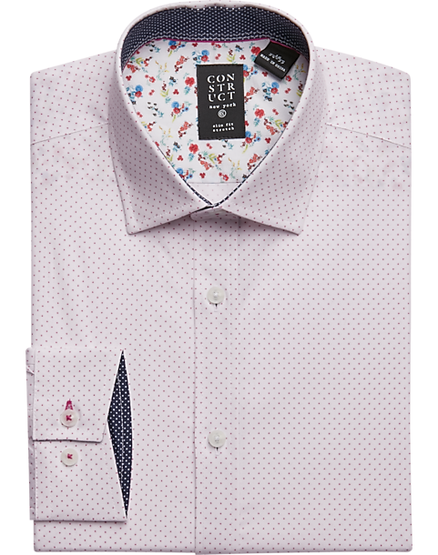 f3e0600a Construct Pink Dot Slim Fit Dress Shirt