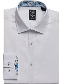 eaac3dfe Mens Shoes - Construct White Twill Slim Fit Dress Shirt - Men's Wearhouse