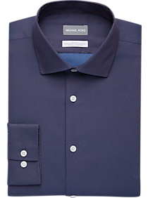 8a58f2034 Mens Home - Michael Kors Blue & Red Woven Slim Fit Dress Shirt - Men's  Wearhouse