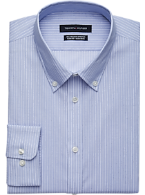 8d1c2b628 Mens Home - Tommy Hilfiger Blue Stripe Slim Fit Dress Shirt - Men's  Wearhouse