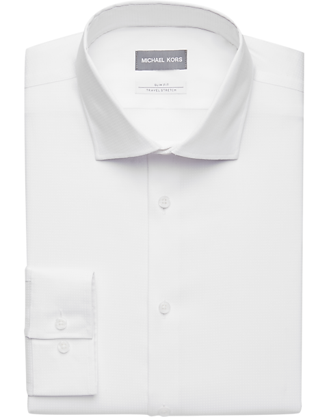 ebfb3513e Michael Kors White Dot Slim Fit Dress Shirt - Men's Shirts | Men's ...