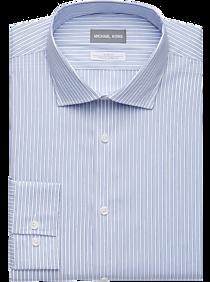 0f5af210aef3 Mens Shirts - Michael Kors Blue Multi-Stripe Slim Fit Dress Shirt - Men's  Wearhouse