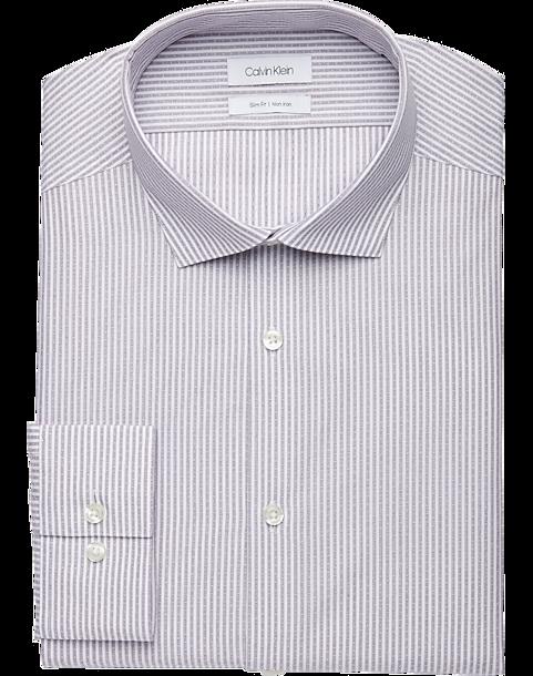 ce2c5adbd395 Calvin Klein Lavender Stripe Slim Fit Dress Shirt - Men s Shirts ...