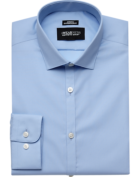 Awearness Kenneth Cole Light Blue Extreme Slim Fit Dress Shirt ... ecb3fbbce