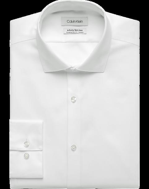 aa766e6ce6 Calvin Klein Infinite Non-Iron White Extreme Slim Fit Dress Shirt ...