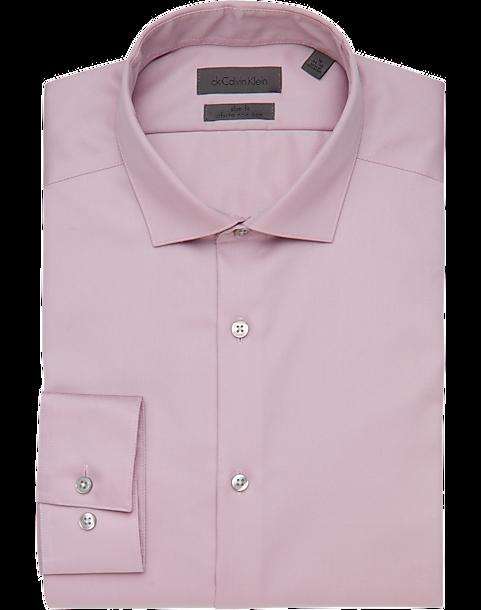 357b17fa Calvin Klein Infinite Non-Iron English Rose Slim Fit Dress Shirt - Men's  Shirts | Men's Wearhouse