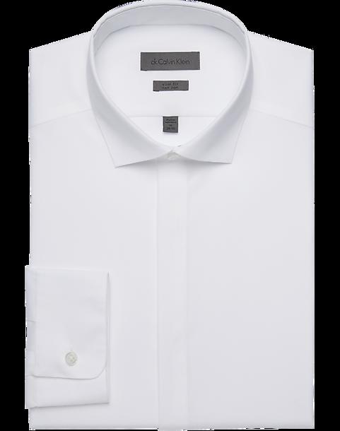 Calvin Klein Infinite Non-Iron White Slim Fit Formal Shirt - Men\'s ...