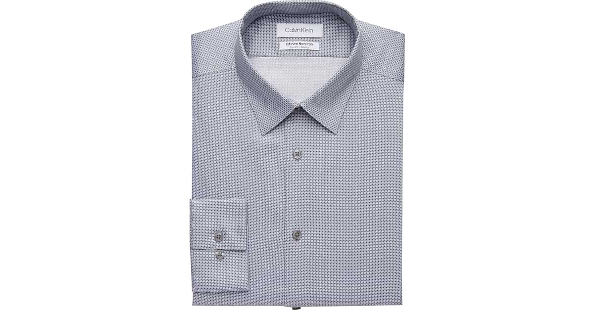 997b740ba22 Calvin Klein Infinite Non-Iron Gunmetal Slim Fit Dress Shirt - Men s Shirts