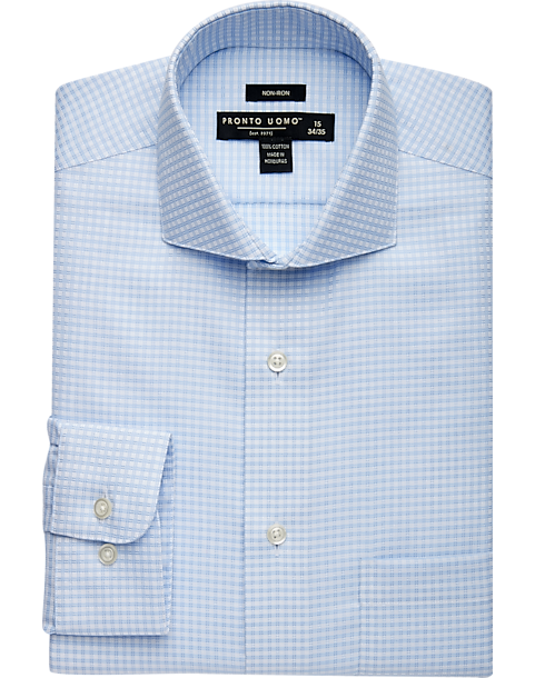 3-Pack Pronto Uomo Blue Check Dress Shirt