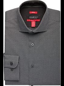 Awearness Kenneth Cole AWEAR-TECH Gray Dot Slim Fit Dress Shirt