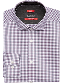 Awearness Kenneth Cole AWEAR-TECH Purple Check Dress Shirt