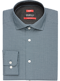 Awearness Kenneth Cole AWEAR-TECH Navy Check Dress Shirt