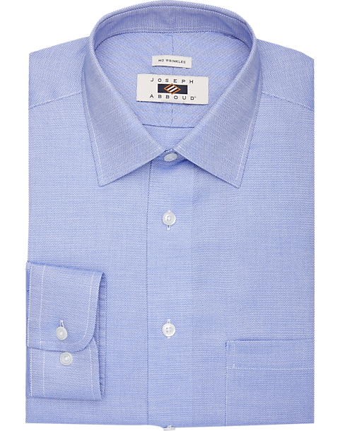 Joseph Abboud Light Blue Mini Check Dress Shirt
