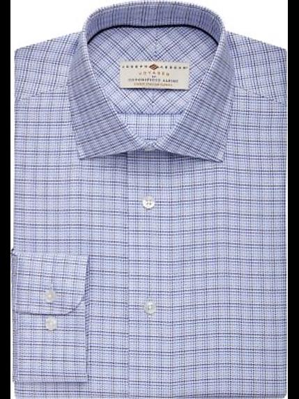 93d9f97fac66 Joseph Abboud Voyager Blue Check Dress Shirt