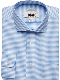 Joseph Abboud Light Blue Check Classic Fit Dress Shirt
