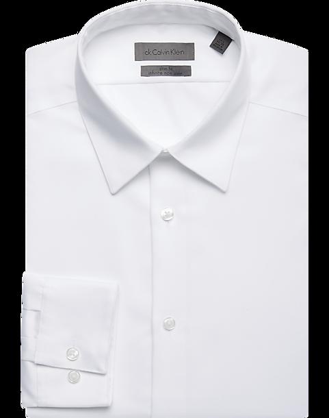 Calvin Klein Infinite Gray Non Iron Slim Fit Dress Shirt Men S