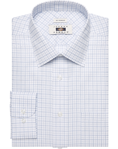 5203a7f34fcb1 Joseph Abboud White   Navy Grid Dress Shirt - Mens Home - Men s Wearhouse