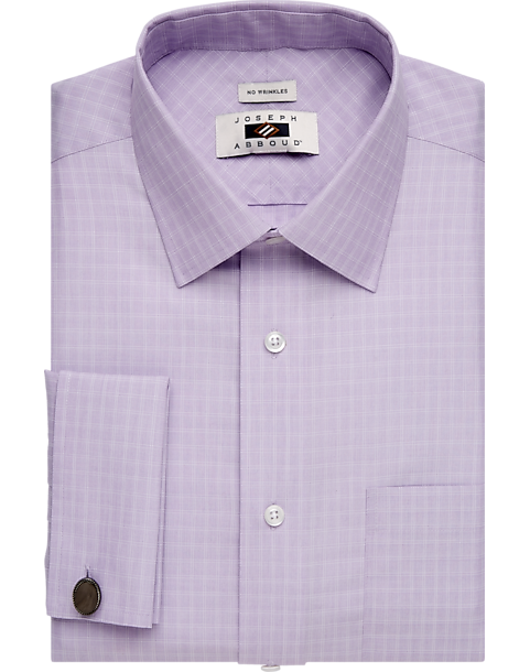 Joseph Abboud Lavender Check French Cuff Egyptian Cotton