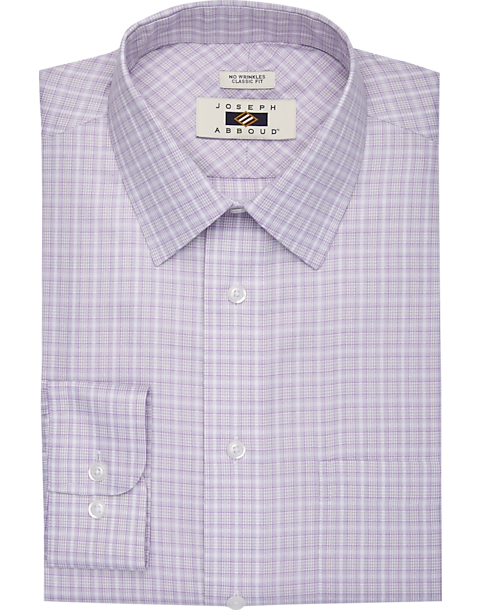 Joseph Abboud Purple Plaid Dress Shirt