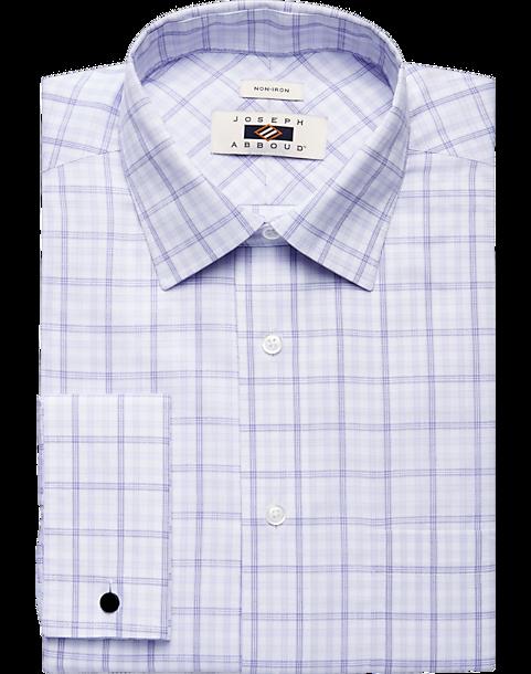 209c3413e0142 Joseph Abboud Lavender Plaid Dress Shirt - Men s Shirts