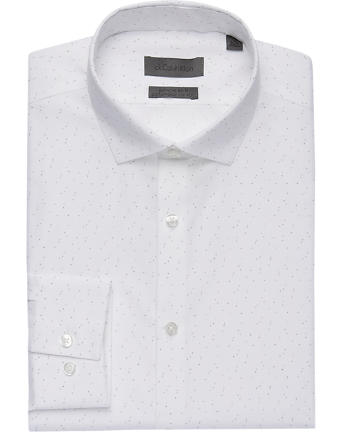 016df5b421ba Calvin Klein Red & Gray Mini Dot Extreme Slim Fit Dress Shirt ...