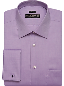 French cuff dress shirts shop cufflinked dress shirts for Purple french cuff dress shirt
