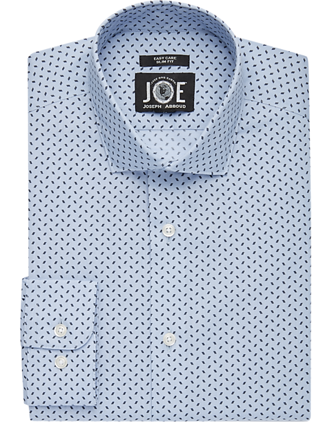 033461439046 JOE Joseph Abboud brrr° Light Blue Stripe Slim Fit Dress Shirt ...
